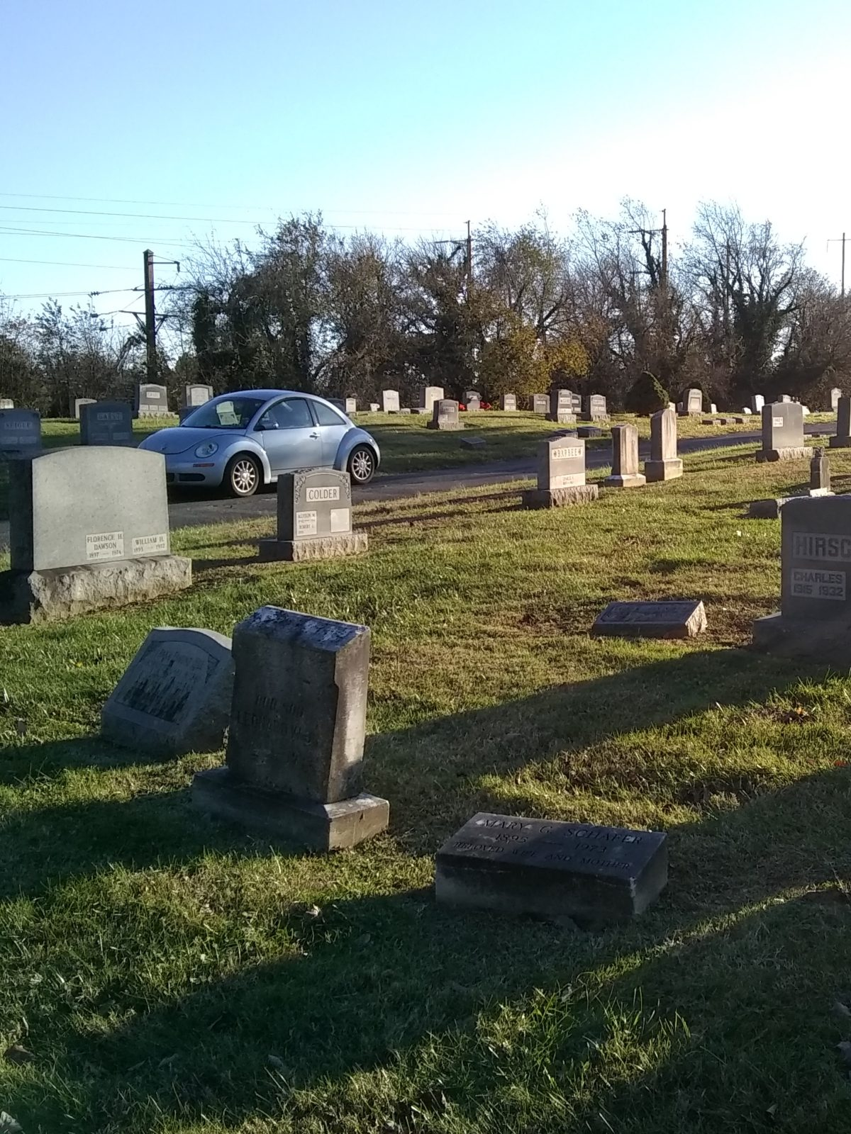 Headstones for Mary Schafer and her son, Leonard