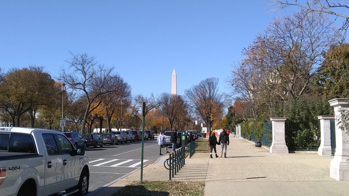 Looking toward the Washington Monument from the National Mall