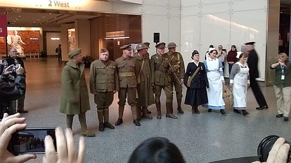 The living history reenactors