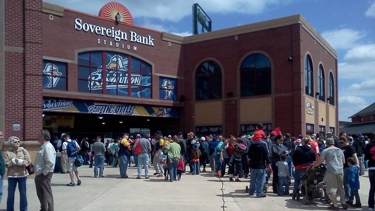 Entrance to Sovereign Bank Stadium