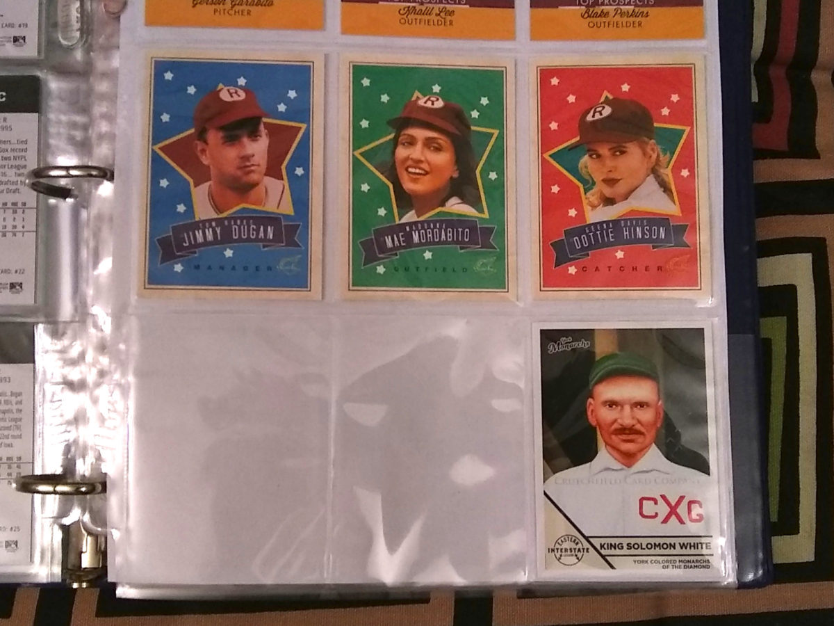 The League of Their Own baseball cards