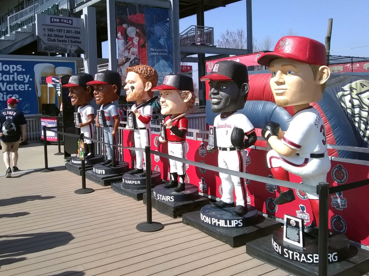 The Bobblehead Hall-of-Fame, freshly repainted for 2019