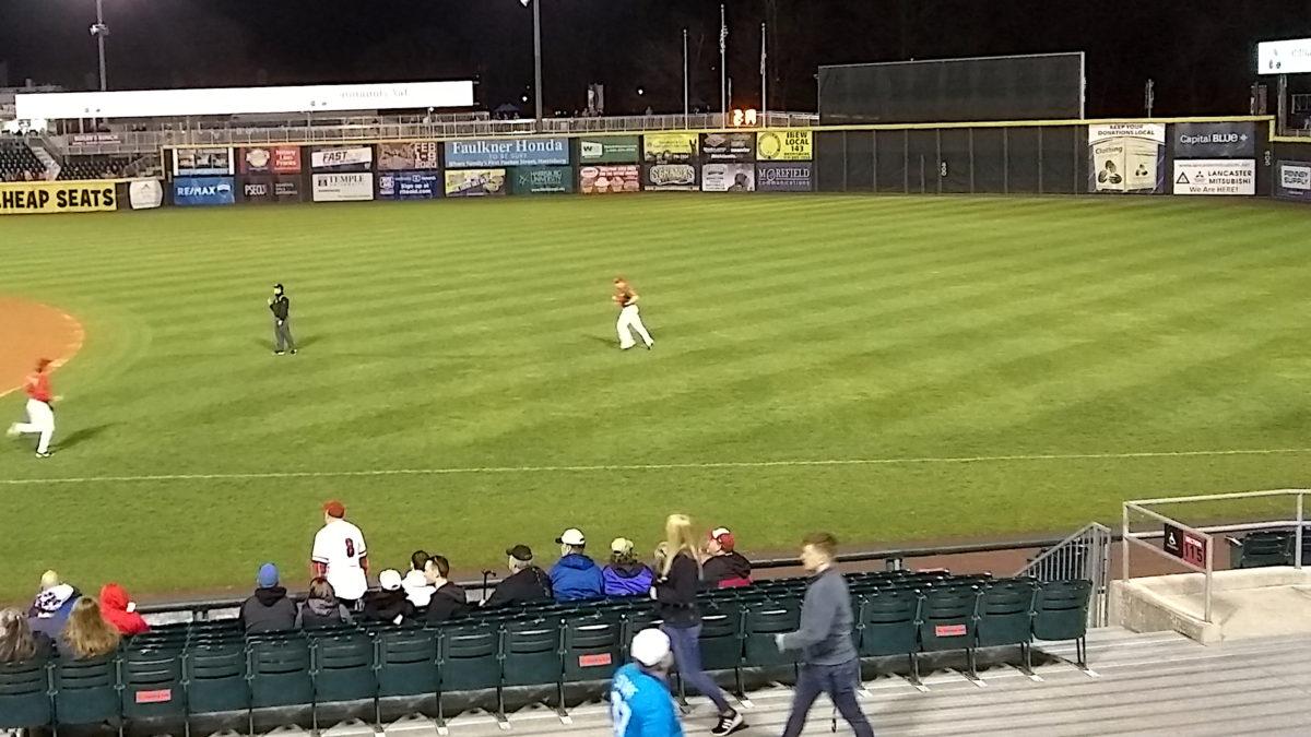 Aaron Barrett jogging in from the bullpen