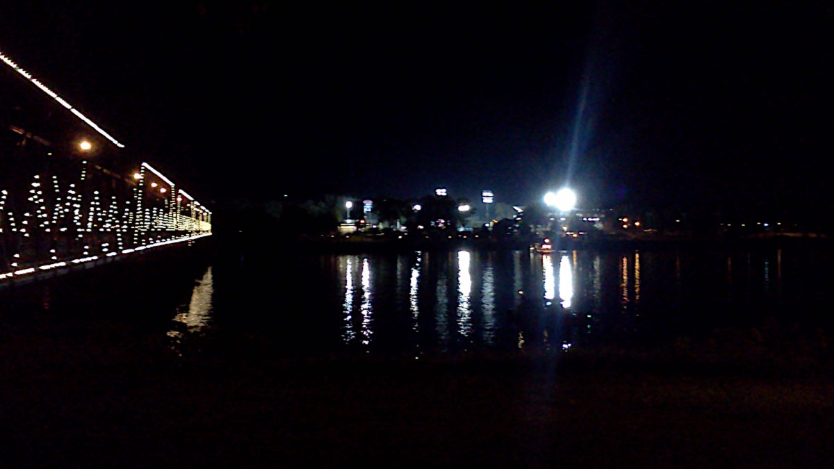 Metro Bank Park, from across the Susquehanna River