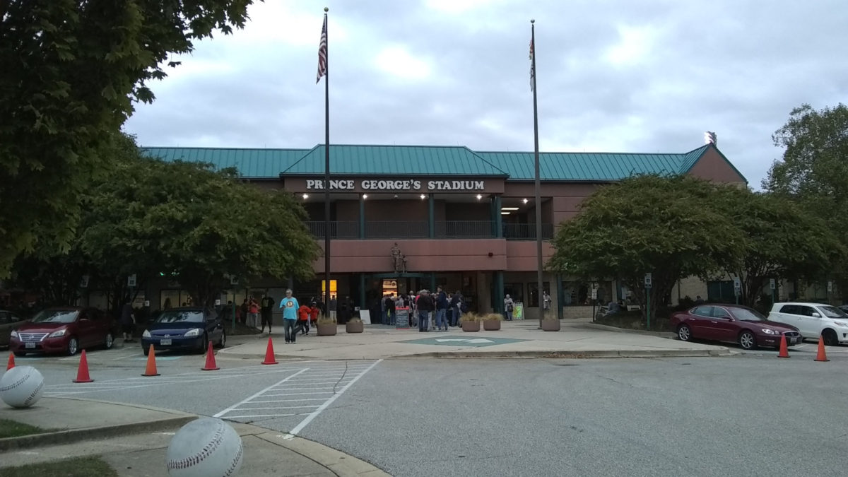 Entrance to Prince George's County Stadium