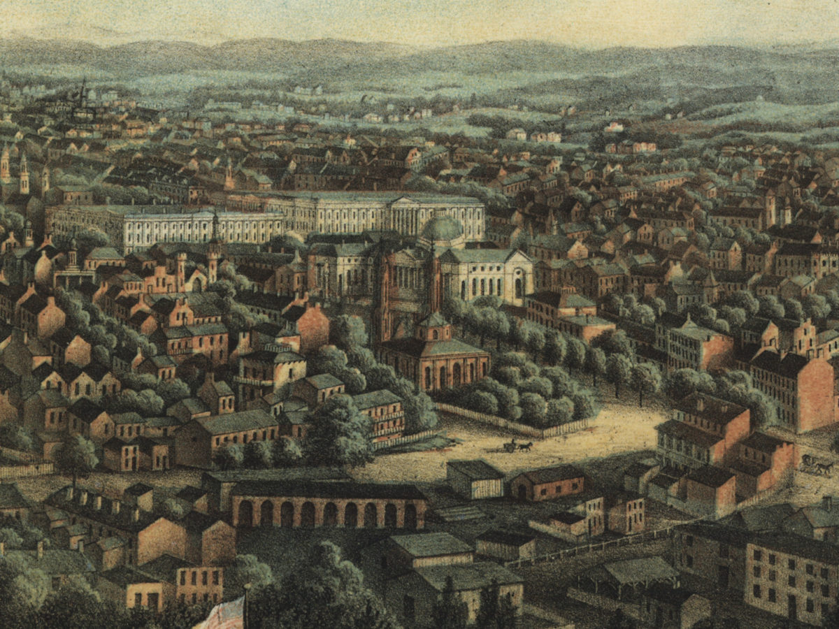 Trinity Episcopal, from an 1871 painting of Washington
