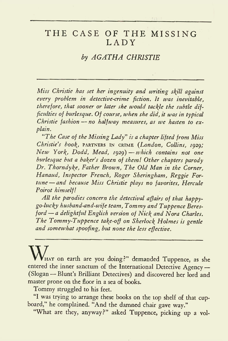 Sample of a story's first page from The Misadventures of Sherlock Holmes