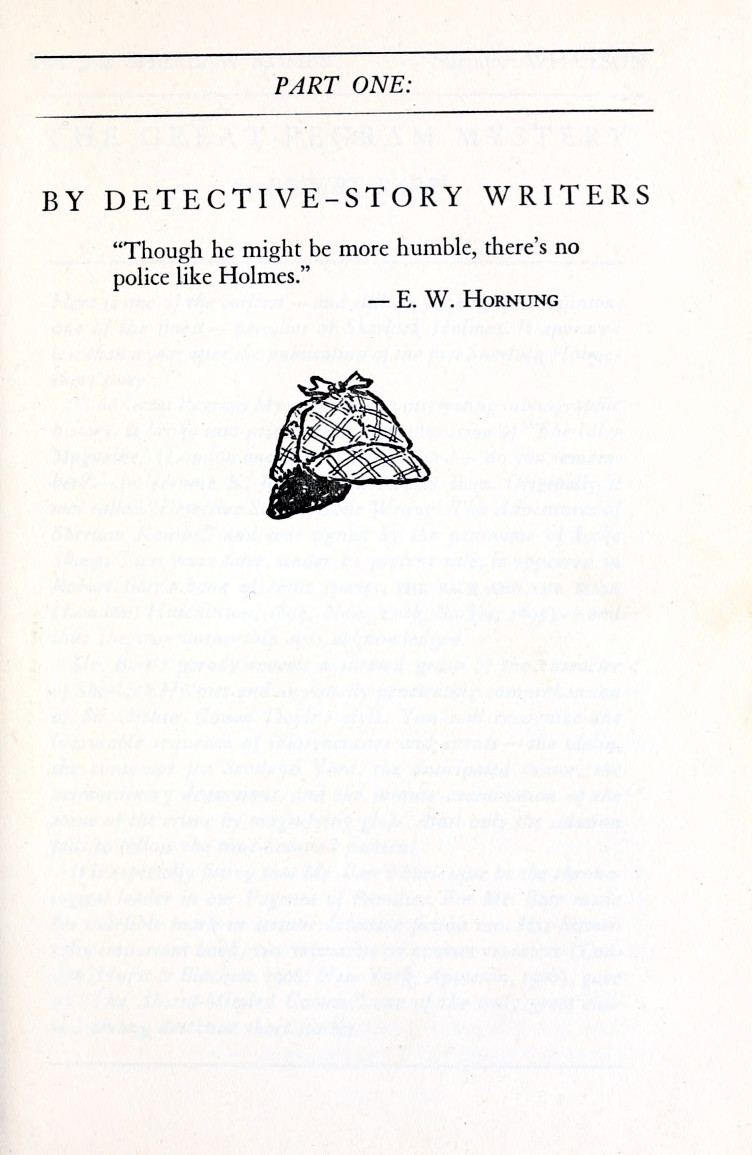 Sample of the section header pages from The Misadventures of Sherlock Holmes