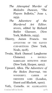 Sample of the bibliography from my ebook of The Misadventures