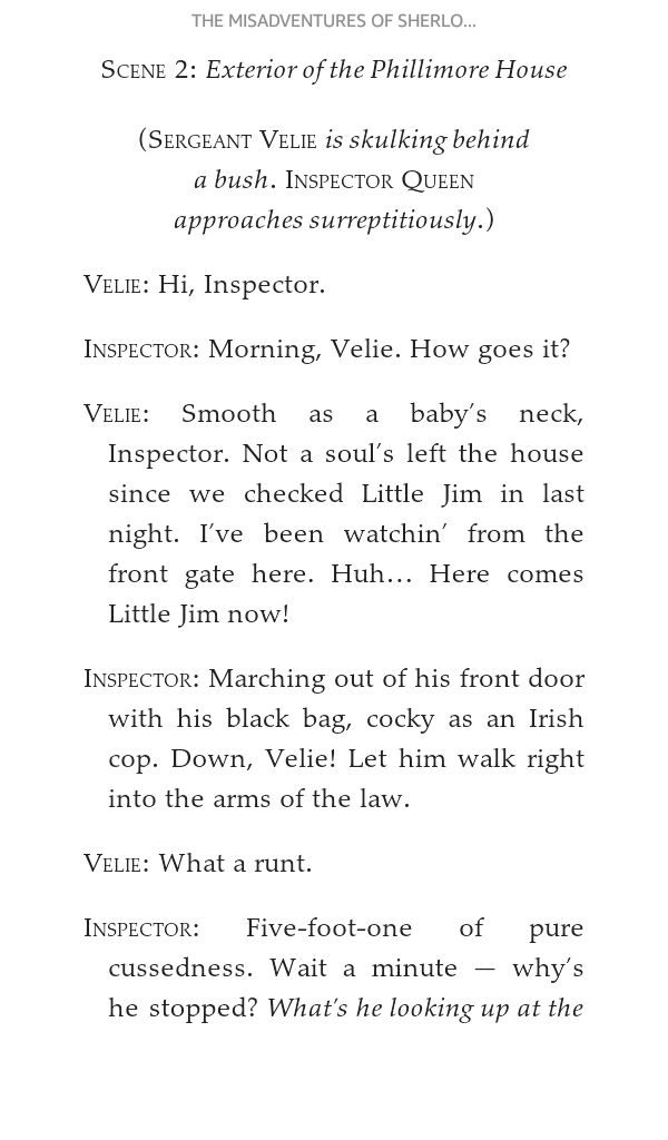 Sample of a play script from my ebook of The Misaventures