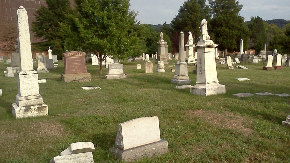 Personal photo of my great-great-grandfather's site, taken from my first visit to Congressional Cemetery, September 2012,