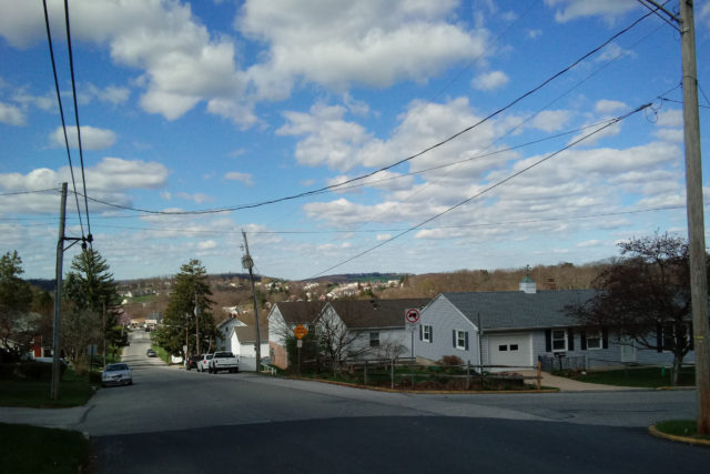 Looking down Pleasant Avenue, where Dallastown meets Yoe