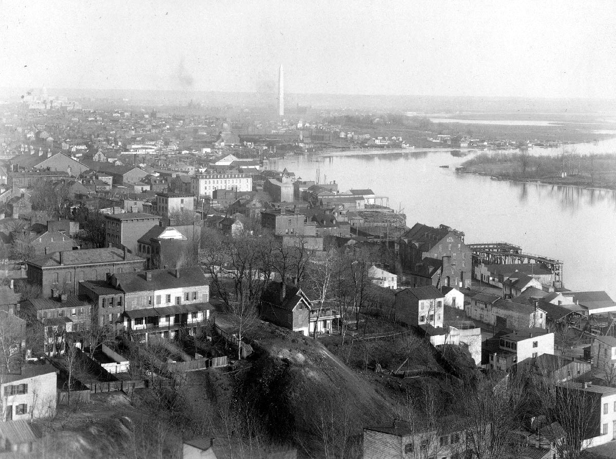 Photograph of Georgetown, 1890, from the Georgetown University archives