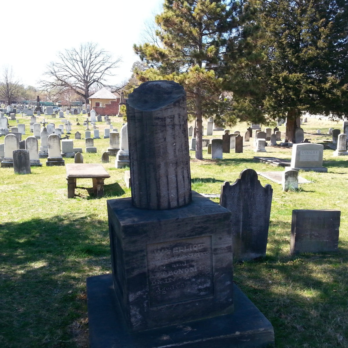 Grave of William Elliott, mathematician and astronomer, at Washington's Congressional Cemetery