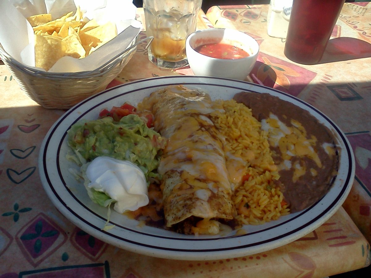 Burrito at La Lomita