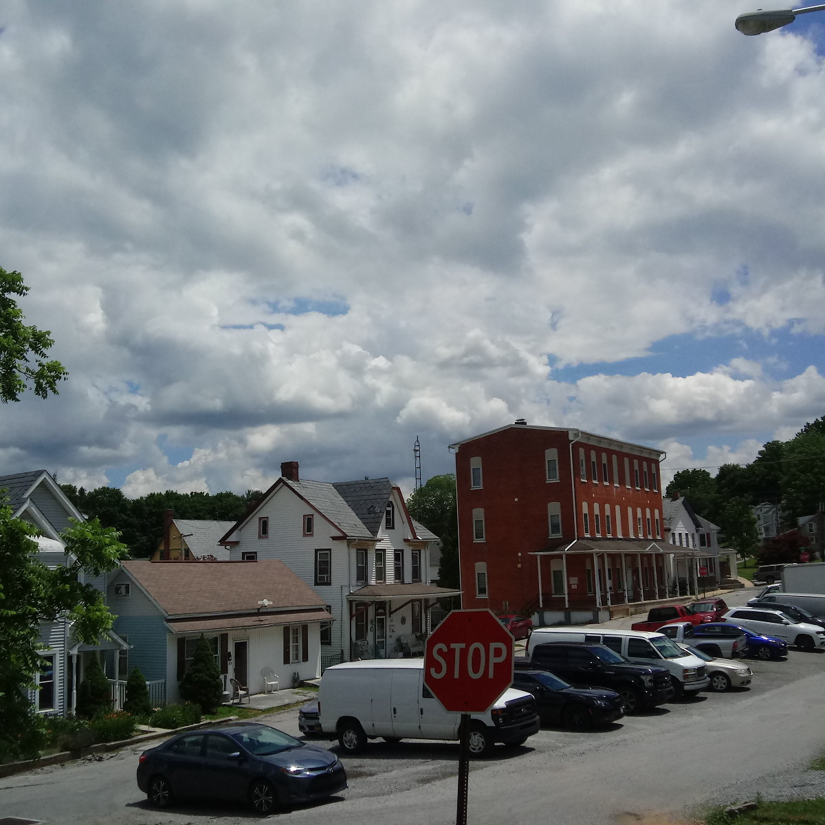 "Clouds over ""downtown"" Yoe"