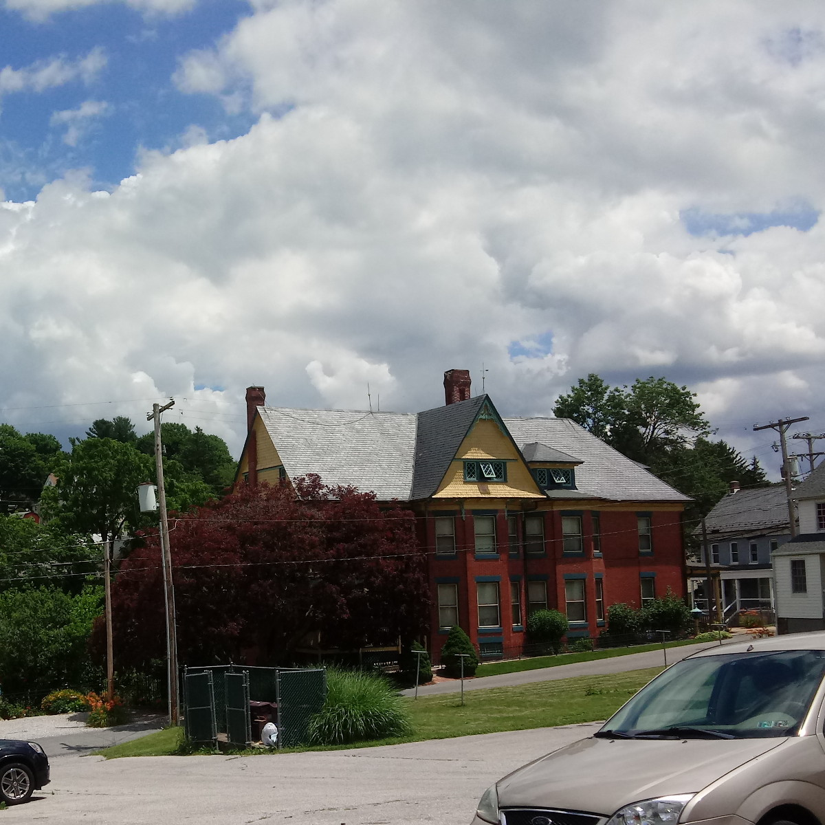 Clouds over the Taylor House in Yoe