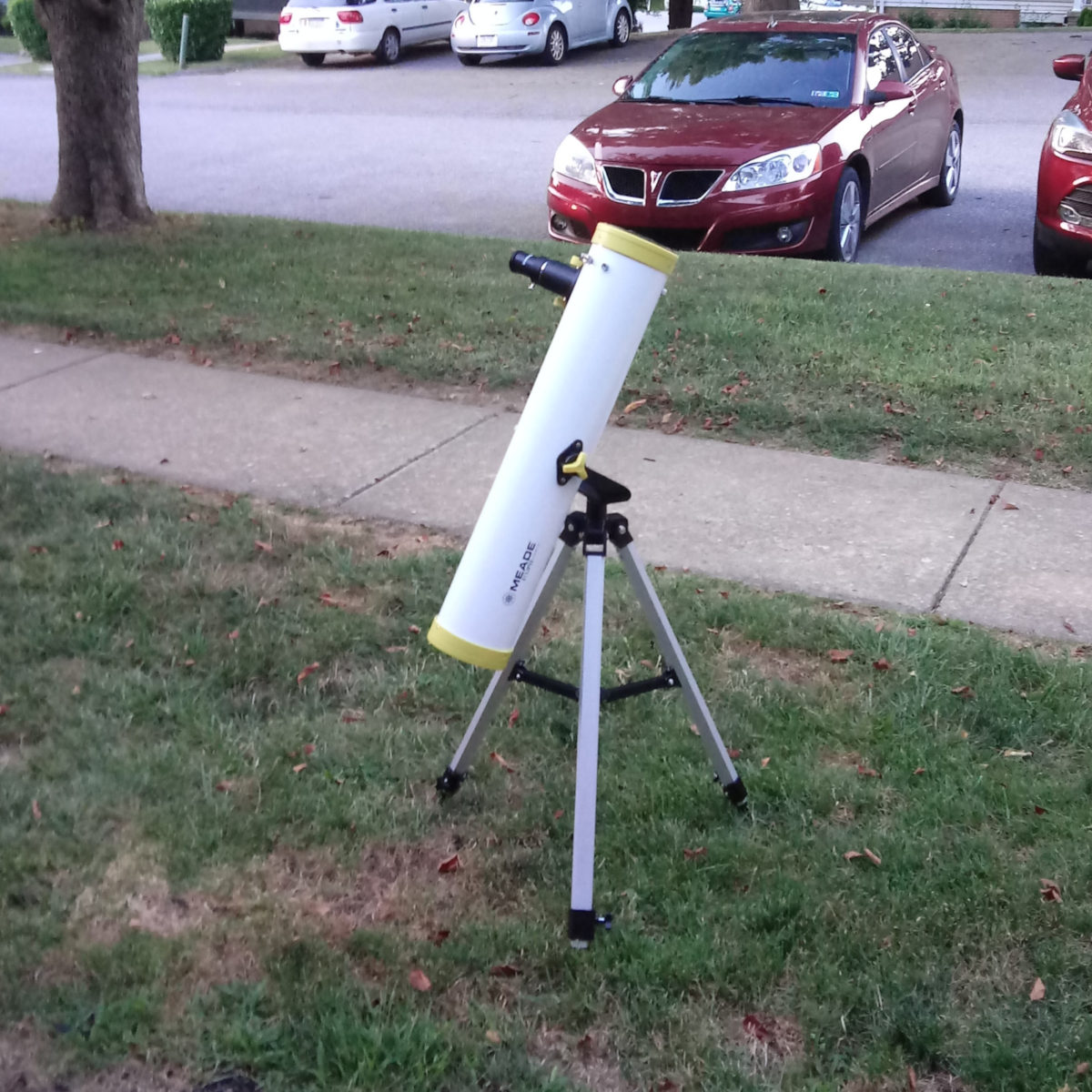 My Meade reflecting telescope, ready for stellar observations