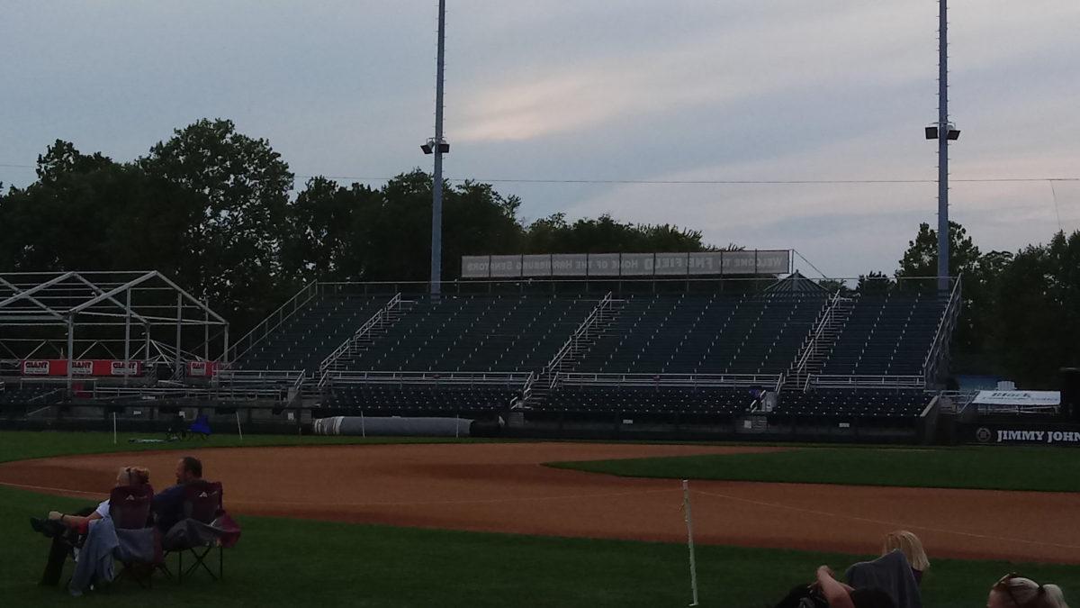 First base bleachers at FNB Field.