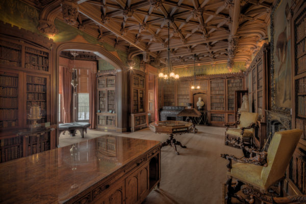 The library of Abbotsford House in Melrose, Scotland