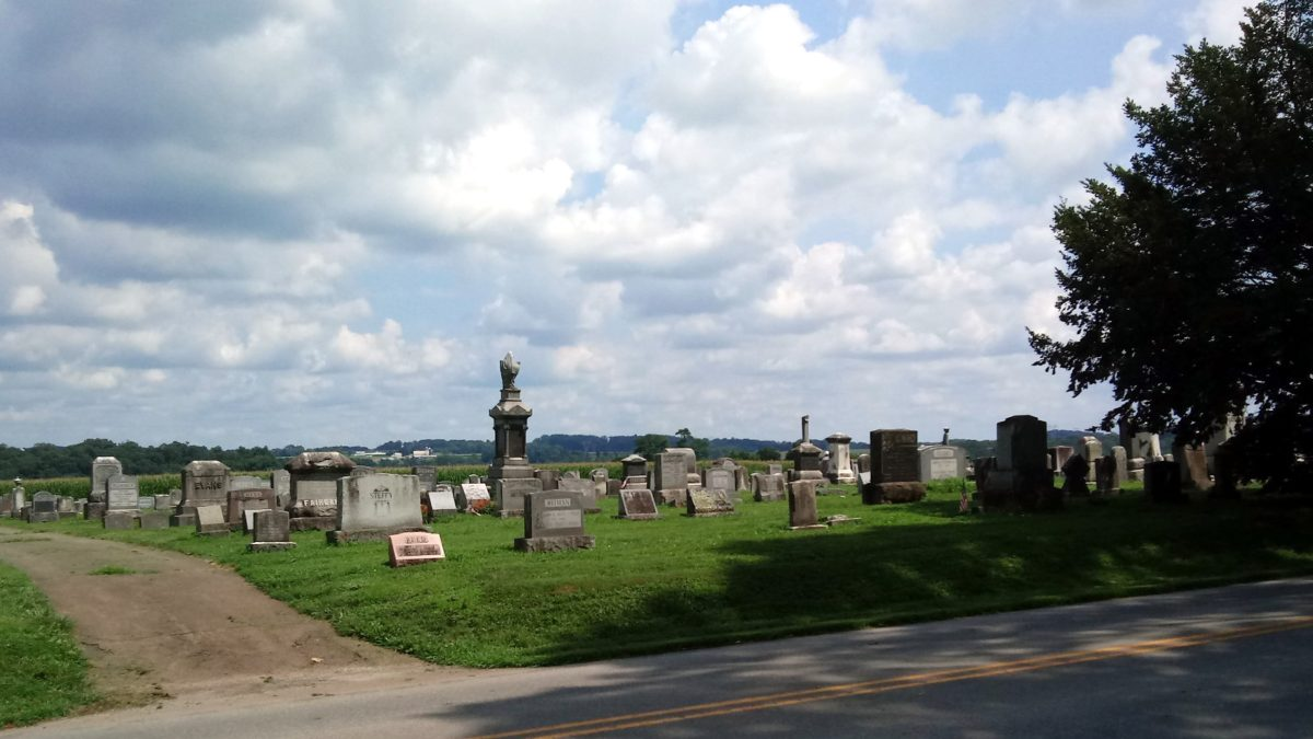 The cemetery at Little Britain Presbyterian Church