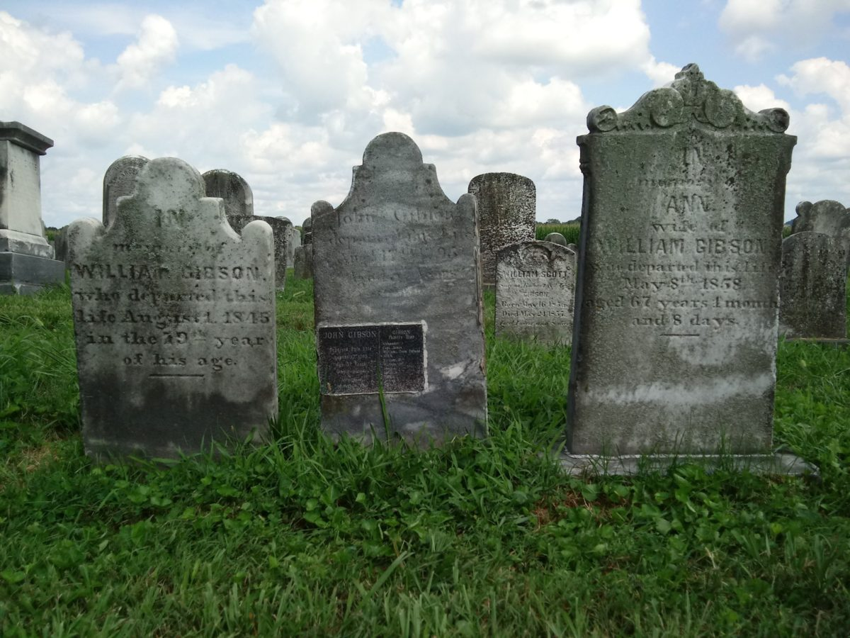 Cluster of 18th- and 19th-century Gibson graves