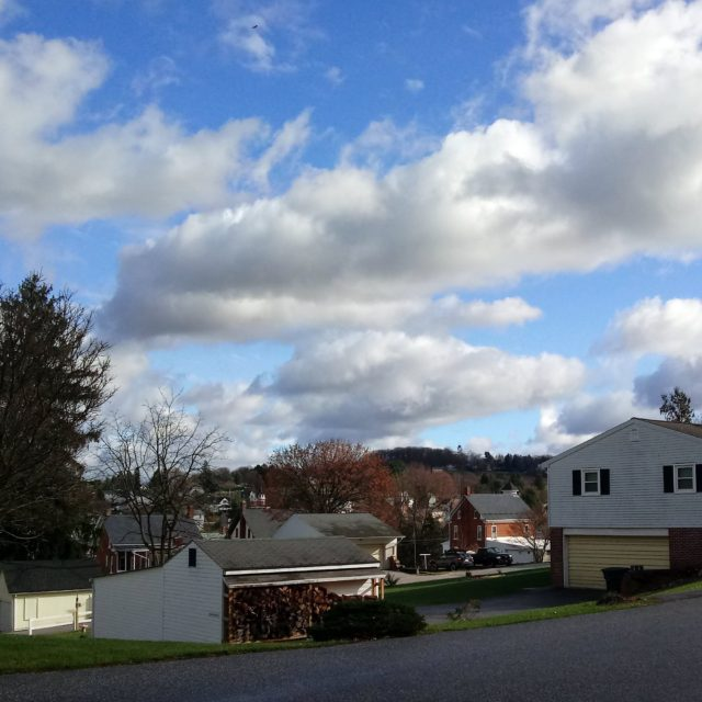 Clouds over Yoe, early December