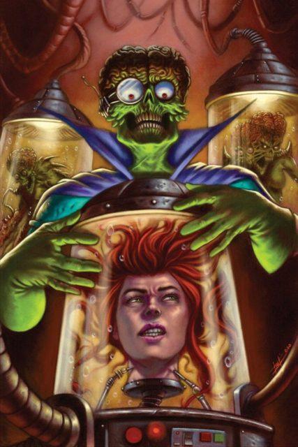 Luca Strati's cover to Mars Attacks Red Sonja #4