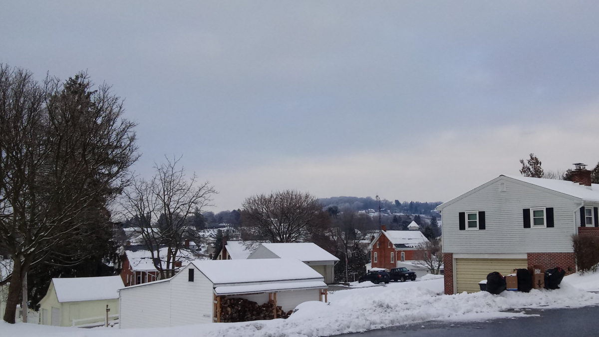 The snow-covered hills of Yoe