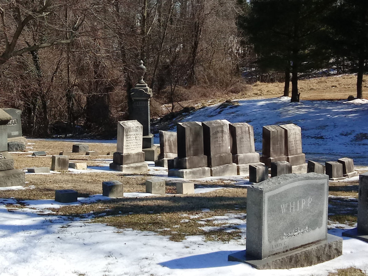 Headstones at Loudon Park Cemeetery