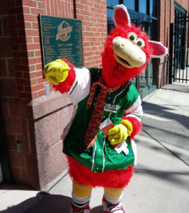 Cylo, the mascot of the Lancaster Barnstormers.