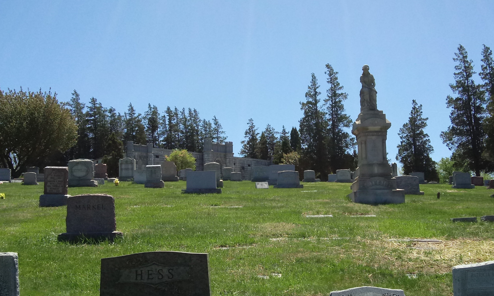 Midway up the hill at Mount Rose Cemetery