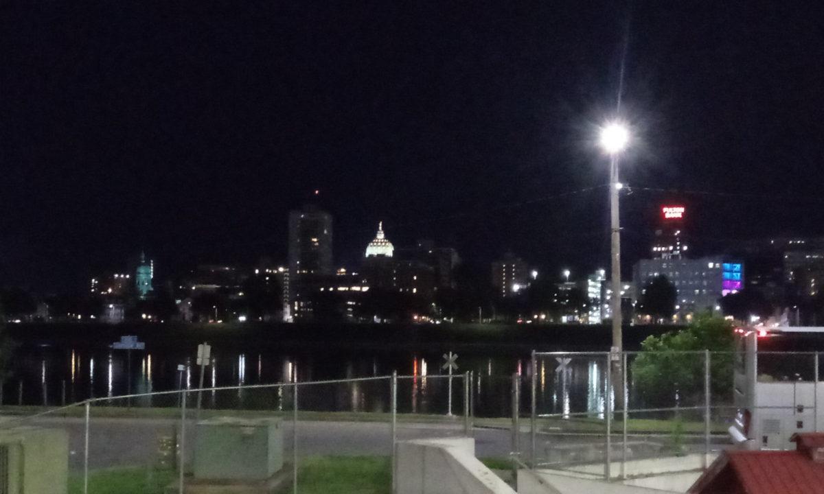 Downtown Harrisburg at night