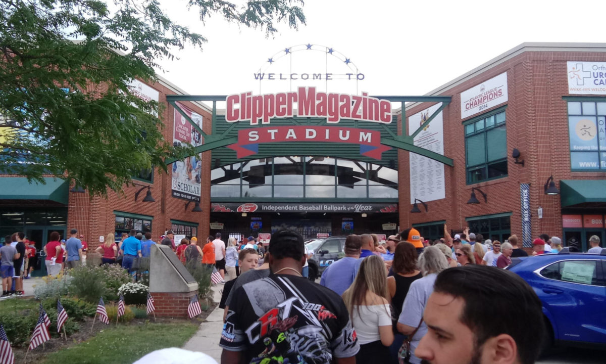 Clipper Magazine Stadium entrance, ten minutes before the gates opened