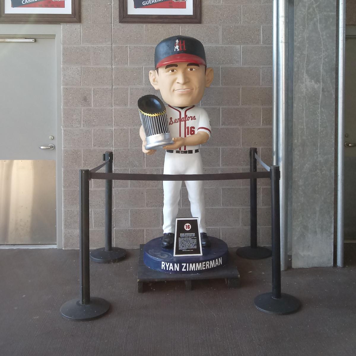 Ryan Zimmerman bobblehead statue at FNB Field