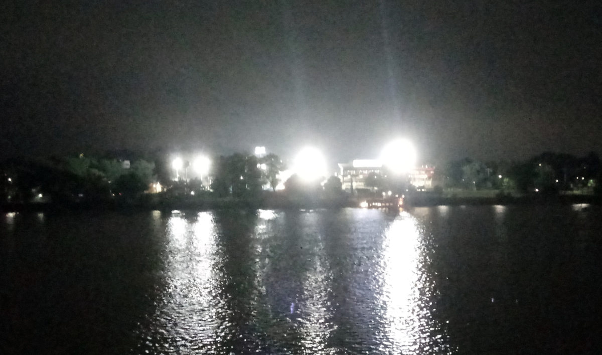 FNB Field and the Pride of the Susquehanna, as seen from across the Susquehanna River on Front Street
