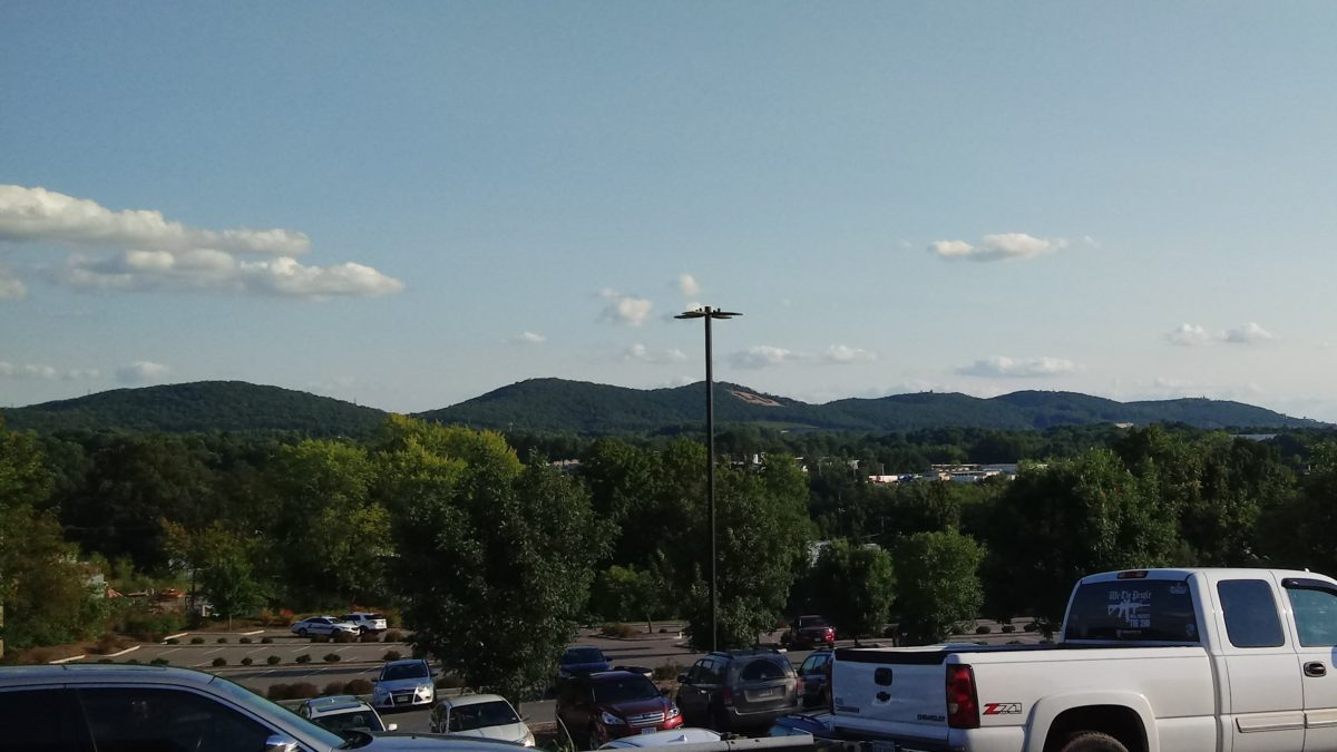 Looking toward Candler's Mountain, in the vicinity of Liberty University